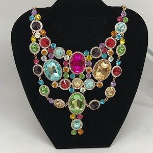 Rhinestone multi colored necklace